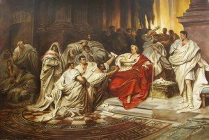 Assassinat de Jules César au sénat – Carl Theodor von Piloty
